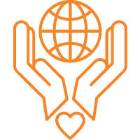 nonprofit graphic of hands with heart holding a globe